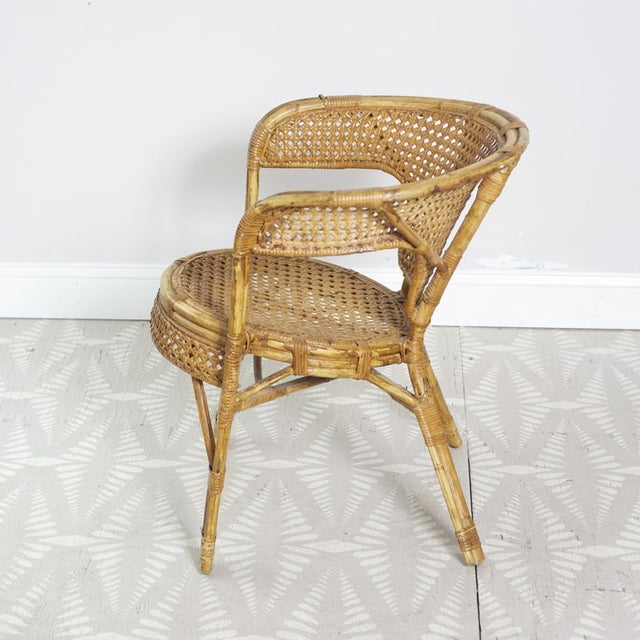 Rattan Cane Arm Chairs - A Pair - Image 5 of 5