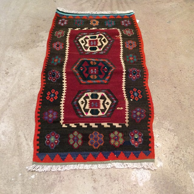 "Vintage Turkish Anatolian Kilim - 1'9"" X 3'5"" - Image 2 of 5"