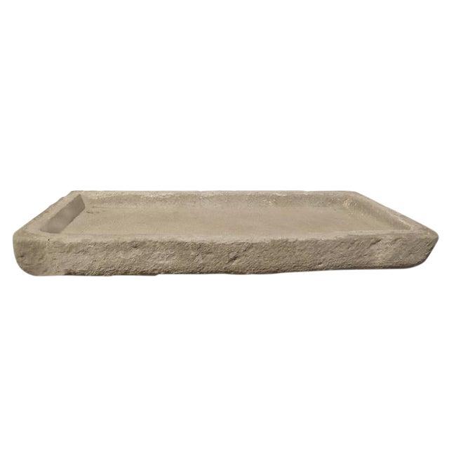 Italian Carved Stone Drain Board - Image 1 of 4