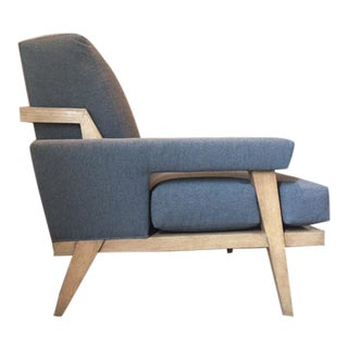 Mid-Century Gray Lounge Chair