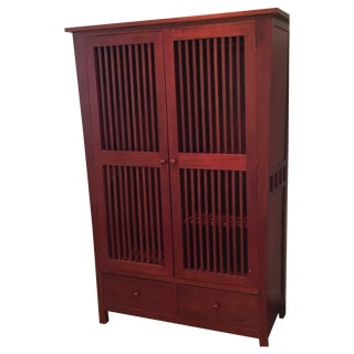 Vietnamese Cherry Wood Armoire