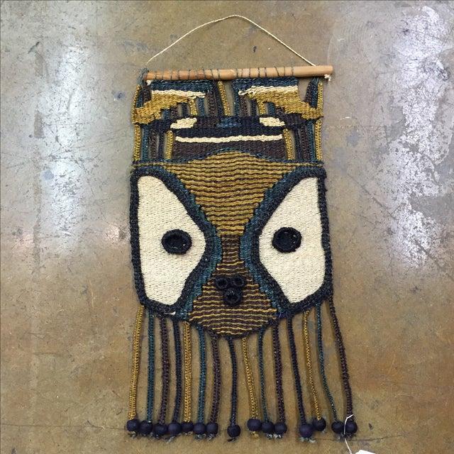 Don Freedman Style Boho Woven Owl Wall Hanging - Image 2 of 6