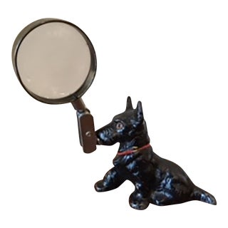Rare Hubley Cast Iron Scotty Dog Magnifying Glass c. 1930s