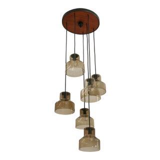 Danish Six Lamp Pendant