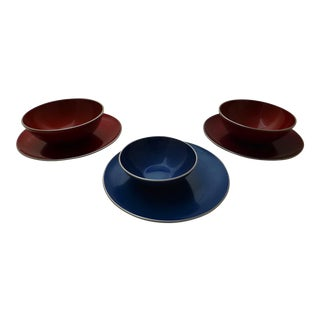 Emalox Mid Century Danish Modern Enameled Bowls - Set of 3