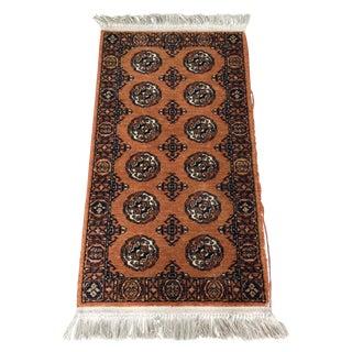 """Orange Karastan Wool Rug - 2'2"""" x 4'8"""""""