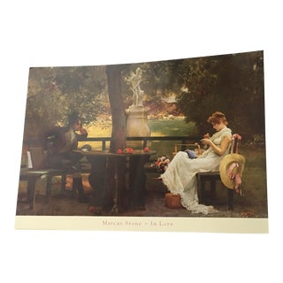 "Marcus Stone ""In Love"" Romantic Victorian Print"