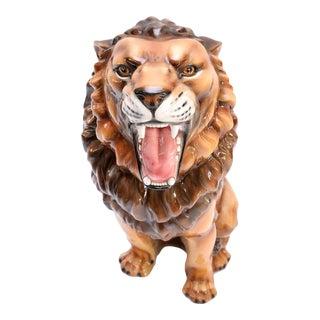Ceramic Lion Sculpture