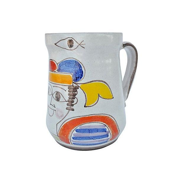 Hand-Painted Italian Pitcher - Image 1 of 4