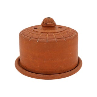 Antique French Terra Cotta Cheese Keeper