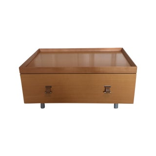 Brown One-Drawer Side Table