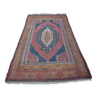 Vintage Turkish Oushak Carpet - 4′5″ × 8′