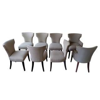 Crate & Barrel Sasha Dining Chairs - Set of 8