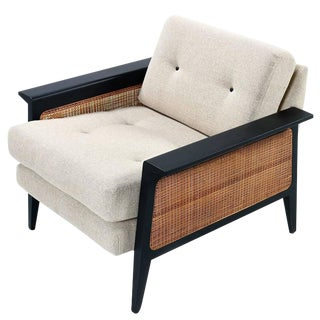 Mid-Century Caned Arm Chair