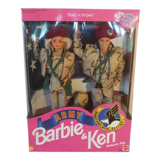 Barbie And Ken Stars 'N Stripes Army Deluxe Set