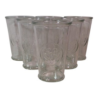 Vintage Clear Chicken Glasses - Set of 6