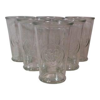 Vintage Clear Chicken Glasses - Set of 6
