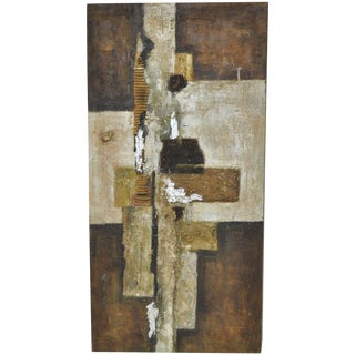 Vintage Mixed Media Abstract c.1960's