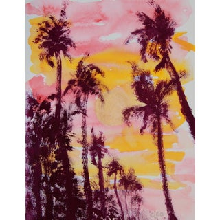 "Cleo ""Sheltering Palms"" Abstract Painting"