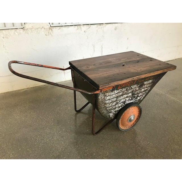 Vintage Industrial Cart Table or Beverage Cart - Image 2 of 10