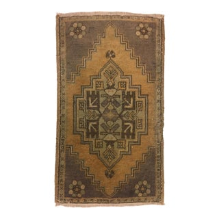 Antique Turkish Oushak Carpet - 1′8″ × 2′11″