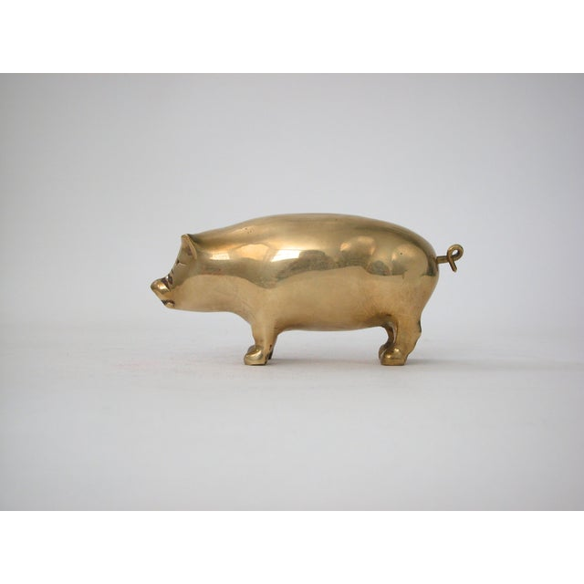 Image of Brass Pig Figurine