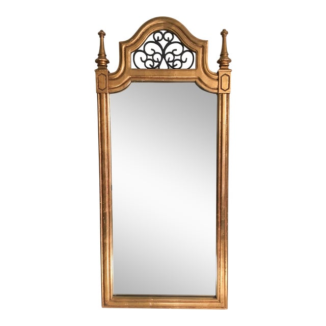 Vintage Italian Gilded Wood & Iron Mirror - Image 1 of 11
