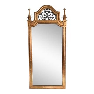 Vintage Italian Gilded Wood & Iron Mirror