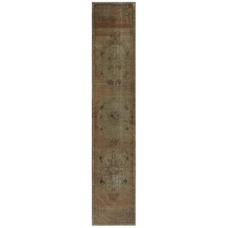 "Vintage Turkish Oushak Runner - 2'2"" x 11'6"""