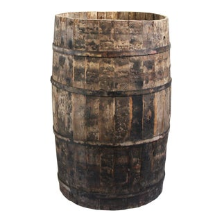 Rustic Antique Wooden Barrel