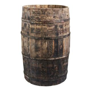 Rustic Antique Wooden Barrel