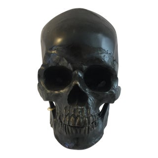 Bronze Painted Skull Figure