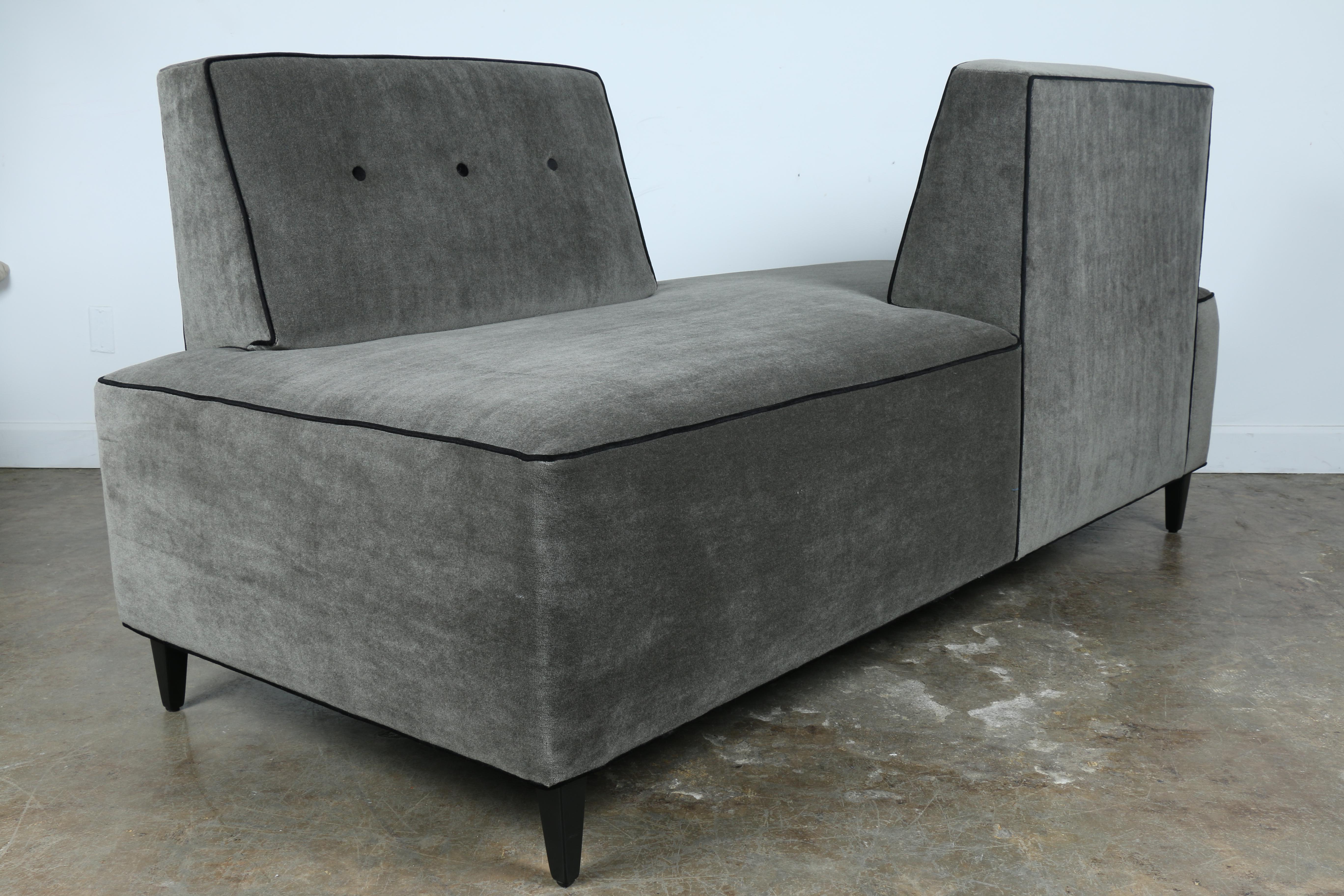 Charming Modern Mohair Double Sided Sofa   Image 2 Of 11