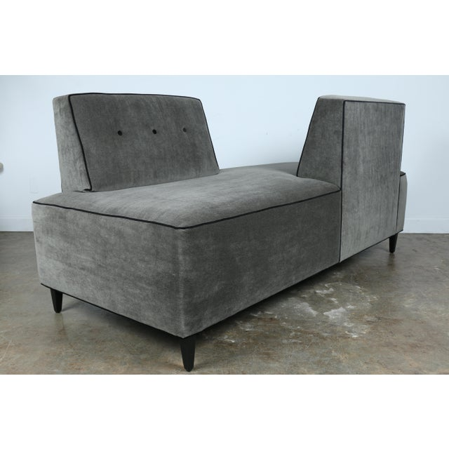 Modern Mohair Double Sided Sofa Chairish