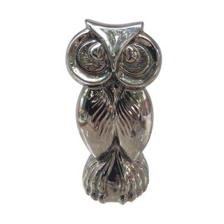 Jaru Chrome Owl Sculpture