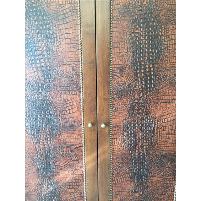 Image of Faux Alligator Armoire