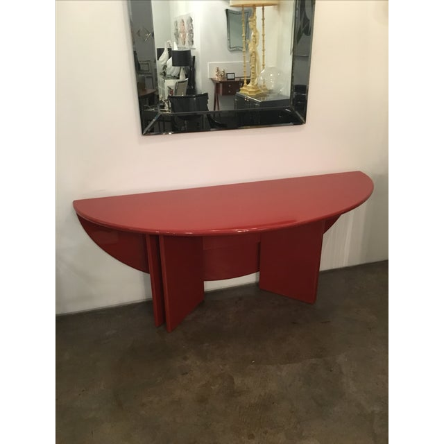 "Kazuhide Takahama Red Lacquered ""Antella"" Folding Console - Image 2 of 7"