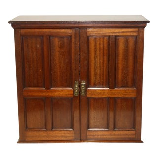 19th C. Miniature Mahogany Cabinet