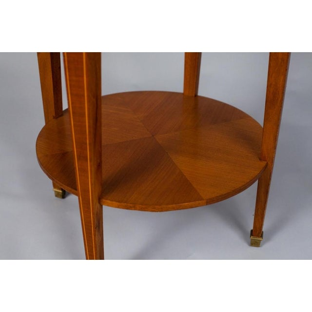 1900s French Louis XVI Style Mahogany Side Table - Image 7 of 10