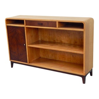 Swedish Moderne Bookcase or Sideboard in Elm, circa 1940