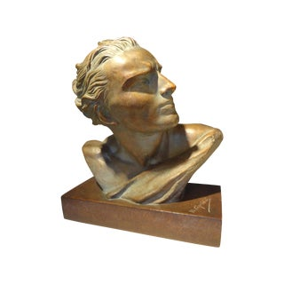 French Art Deco Terra Cotta Bust
