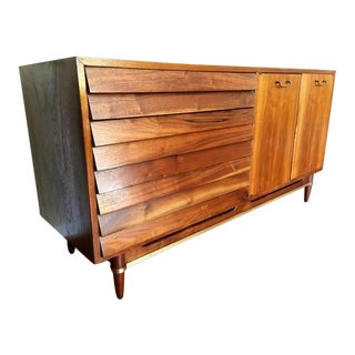 American of Martinsville Dania Walnut Credenza