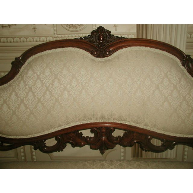 French 19th C. Walnut Settee Loveseat - Image 5 of 8