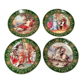 1980's Limoges Napoleon & Josephine Collector Plates - Set of 4