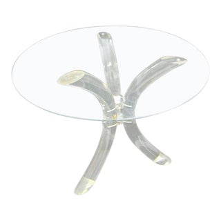 Charles Hollis Jones Lucite Tusk Dining Table