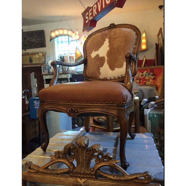 1930s Re-Upholstered Cowhide Leather Chairs - Image 3 of 11