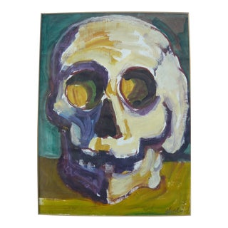 Yellow Skull Original Painting