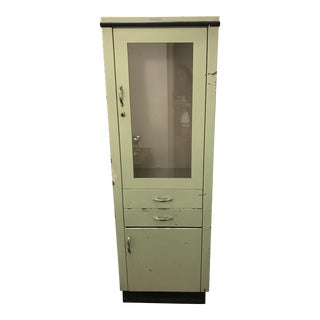Mid Century Tall Industrial Steel Medical Cabinet