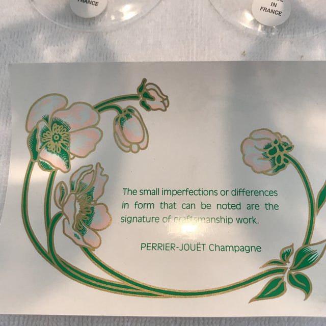 Perrier Jouet Champagne Flutes- A Pair - Image 10 of 10