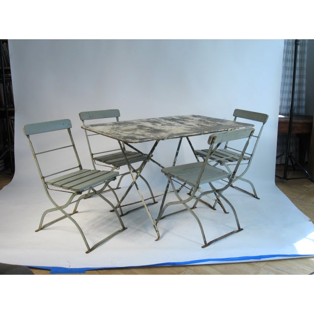 Antique French Bistro Dining Set - Image 8 of 8
